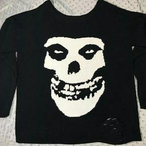 Iron fist misfits oversized sweater